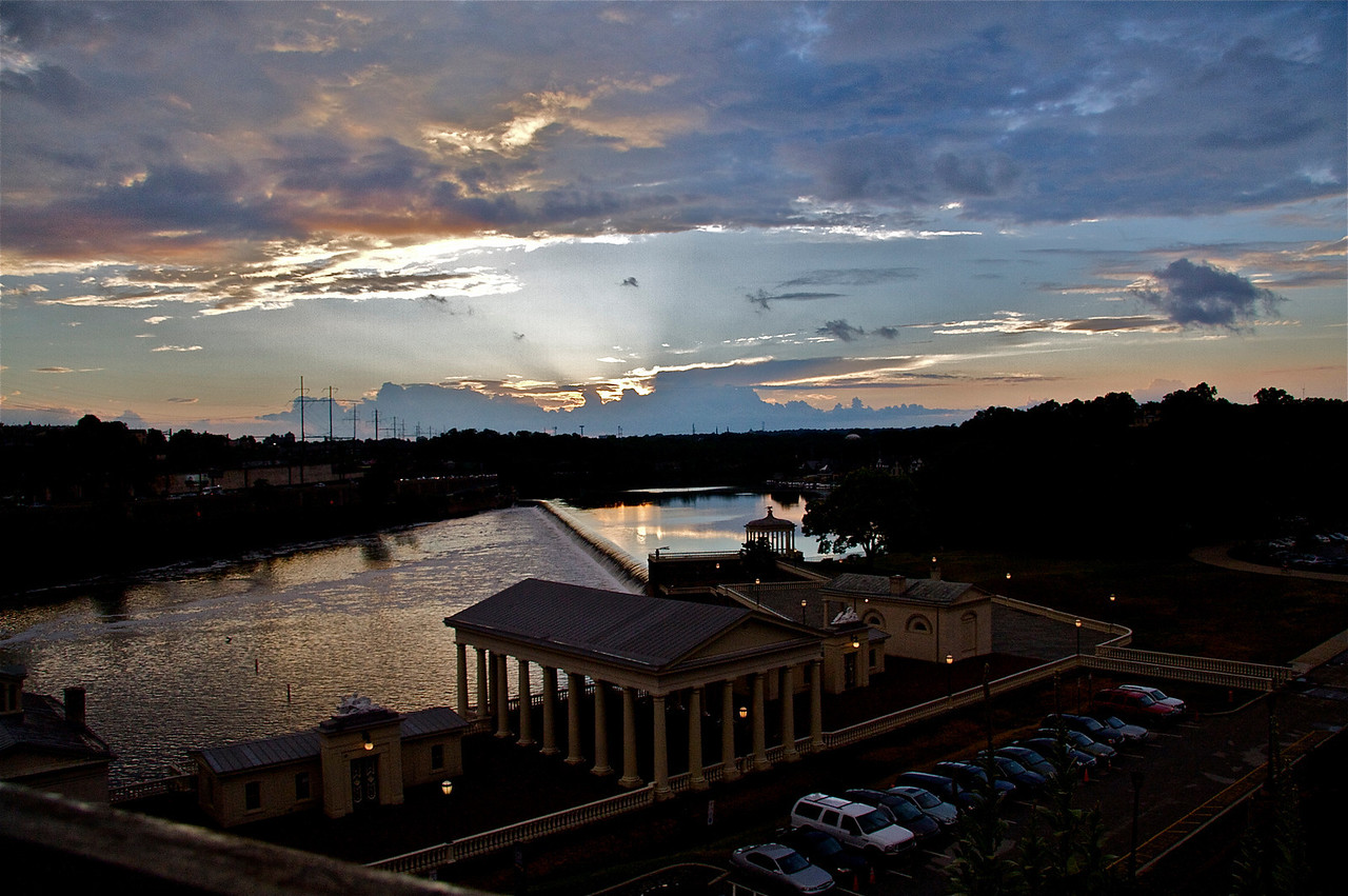 Waterworks Restaurant & Lounge by the Schuykill River dam near the Philadelphia Museum of Art
