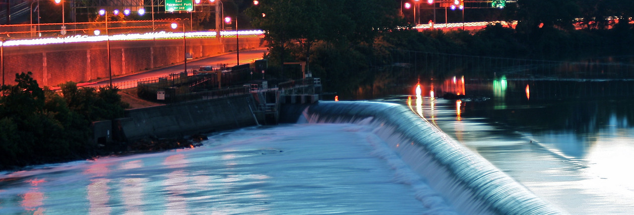 Schuykill River dam near the Philadelphia Museum of Art